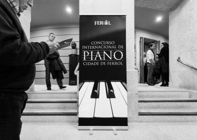 Cartel Concurso Internacional de Piano Cidade de Ferrol